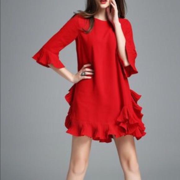 3dcb119ea0d StyleWe Auchan-Ai Frill Sleeve Mini Dress